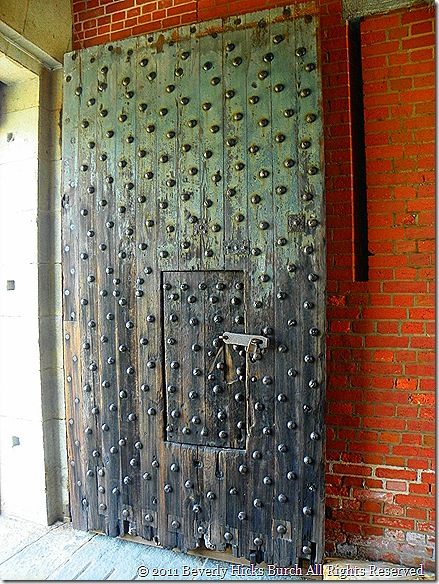 old door at fort pulaski